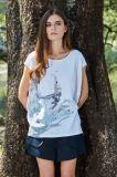 Print New Design Round Neck Women T-Shirt Tops