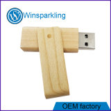 Green Wooden Twist USB Flash Disk USB Flash