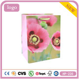 Pink Flowers Butterfly Cosmetics Gem Clothing Coated Paper Bag