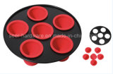Hot Sale 6 Cup Cake Mould Silicone Baking Pan (SE-5802)