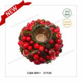 Specially Designd Dia. 17cm Popular Candlestick Christmas Decoration Plastic Products Home