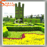 Landscape Decoration Artificial Boxwood Hedge Garden Boxwood Plant