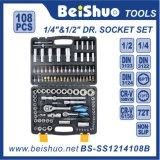 """108PCS 1/2"""" &1/4′′ Drive Socket Set, Auto Repair Handtool Set."""
