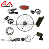 36V 250W Front Motor E Bike Conversion Kit with Tretro Brake Lever Integrated Bell