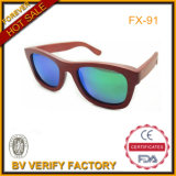 Origional Red Wood Sunglasses with Blue Polarized Colorful Lens