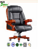 Swivel Leather Executive Office Chair with Solid Wood Foot (FY9106)