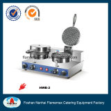 2-Head Waffle Baker for Commercial Kitchen Equipment in Snack Shop (HWB-2)