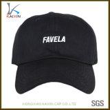Wholesale Black Low Profile 6 Panel Baseball Cap Hat