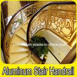 Interior Luxury Spiral Staircase Aluminum Copper Stair Handrail