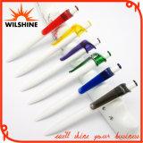 Promotional White Plastic Ball Pen for Logo Advertising (BP0292)