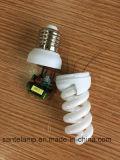 100% Tri-Phosphor 9mm Small Full Spiral 220V Energy Saving Lamp (CE&RoHS)