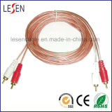 2 RCA to 2 RCA Transparent Cable