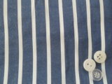 Polyester/Cotton Chambray Stripes Garment Fabric