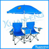Deep Blue Folding Beach Chair with Umbrella