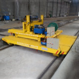 Motorized Electric Transfer Cart for Heavy Material Transportion on Rail