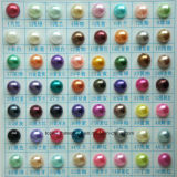 3mm 4mm 5mm Round Flat Back Pearls ABS Half Round Pearl Accessories for Phone Case Nail Art (FB-3mm 4mm 5mm)