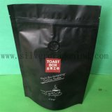 Black Color Side Gusset Coffee Bag with Zipper
