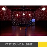 Fireproof material Star Cloth RGBW LED Curtain Light