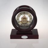 Beautiful Piano Finish Wooden Corporate Clock K3018p Skelelton Clock Kit Gift Set Business Souvenir and Giveaways