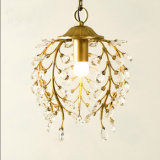 Hotel restaurant Mini Candle Metal Crystal Ceiling Chandelier Lamp Lighting in Black / Bronze Color
