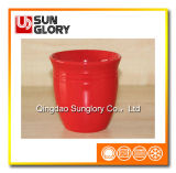 Red Ceramic Flowerpot of Gyp066