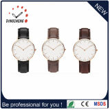 Fashion Water Resistant Black Leather Watch Alloy Case Watches (DC-470)