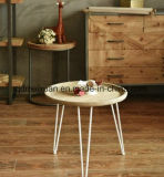 American Country Creative Three Feet Tray White Legs of The Round Table Log Table, Tea Table and a Few Coffee Shop Furniture (M-X3650)