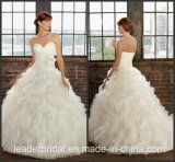 Cascading Ruffles Bridal Wedding Dress Organza Vestidos Wedding Ball Gown W15230