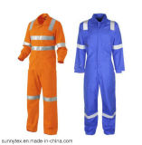 Orange High Vis Reflective Safety Coverall for Oil Custom