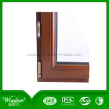 European Style Aluminum Wood Compand Window Design for Projects Using