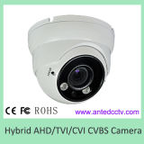 Hybrid HD Security Camera Ahd Tvi Cvi Metal Dome DOT Array IR Camera with Varifocal Lens