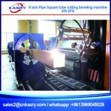8 Aixs Controlled Round Pipe Hollow Tube Profile Plasma Cutting Beveling Machine
