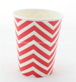 Innovative Red Chevron Party Paper Cups Dinner Paper Set