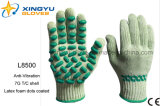 Anti-Vibration T/C Shell with Latex Foam Dots Coated Safety Work Glove (L8500)