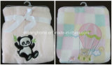 2014 Hot Sale 100% Polyester Embroidery Super Soft Coral Fleece Baby Blanket (MG-TZ008)