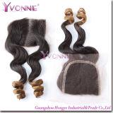 New Arrival Brazilian Hair Loose Wavy Silk Top Lace Closure