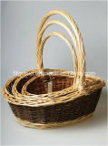 Customized Eco-Friendly Willow Gift Basket with Handle and Different Colors