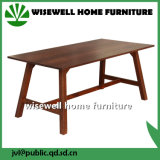 Solid Oak Wood Rectangle Dining Room Table