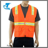 High Visibility Reflective Safety Vest with 4 Lower Pockets