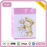 Lovely Bear Pink Children Art Coated Gift Paper Bag