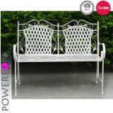 European Garden Wrought Iron Bench for 2 Seat