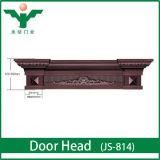 Villas Classic Wooden Entrance Door Model and Door Head
