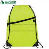 Double Compartment New Design Drawstring Backpack Bag with Earphone Hole