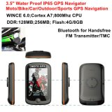 "New 3.5"" Capacitive Touch WiFi Waterproof IP65 Motorcycle Bike Car Handheld GPS with Portable GPS Navigator Wince 6.0, Cortex-A7, 800MHz"