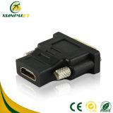 Black Bare Copper Wire Male-Male VGA HDMI Converter Adapter