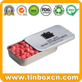 Slide Candy Tin Box for Sliding Mint Gum Sweets Confectionary