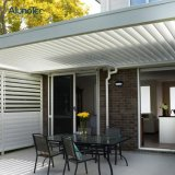 Motorised Waterproof Louver Roof System Automated Lourvre Roof Pergola