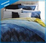 7PCS Blue Watercolor Design Microfiber Comforter Bedding
