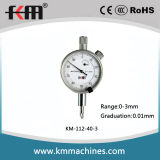 0-3mm Small Dial Indicator with 0.01mm Graduation