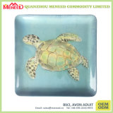 Ceramic Like Tortoise Print Square Plate